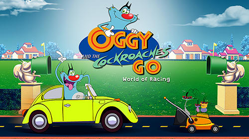 Download Oggy and the cockroaches go: World of racing für Android kostenlos.