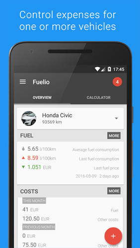 Fuelio: Gas and Costs