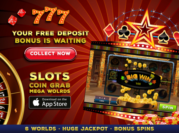 Download Slots: Coin Grab Mega Worlds für iPhone kostenlos.