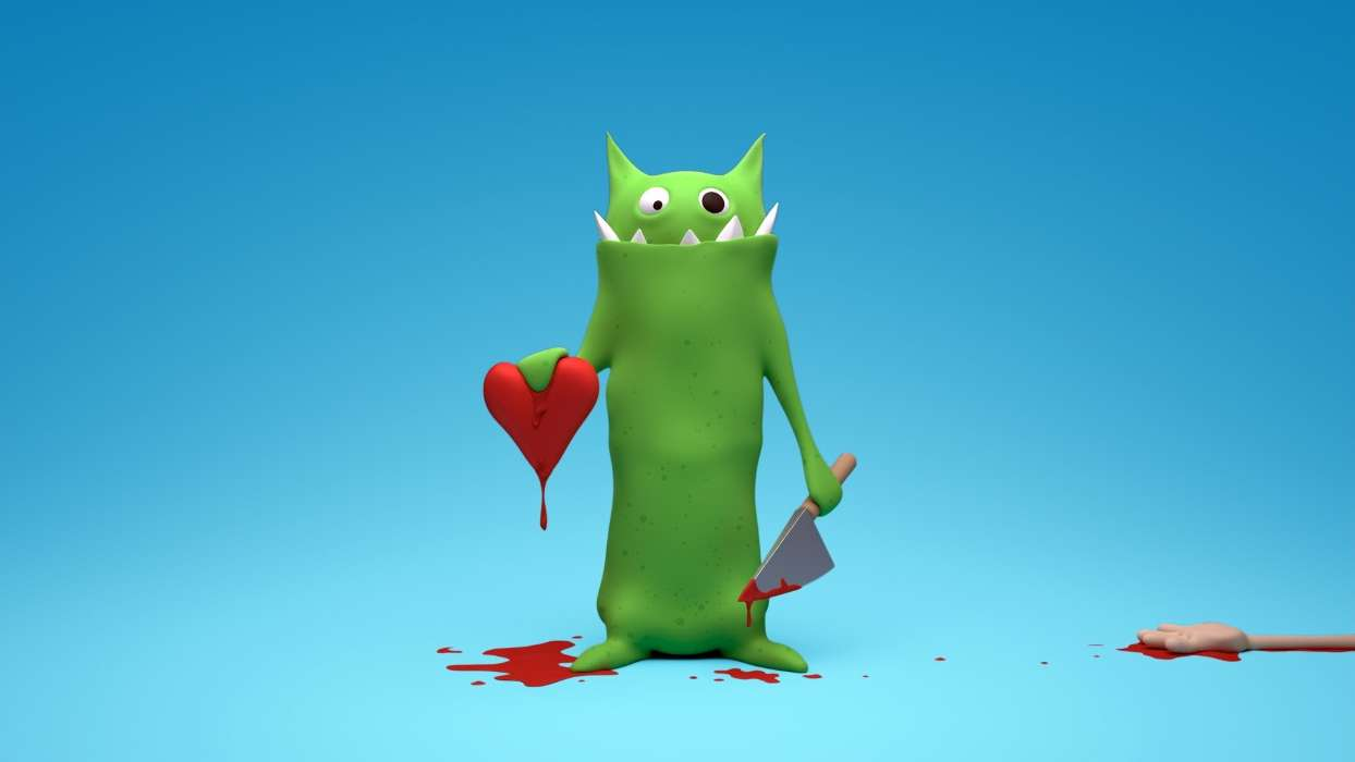 Humor, Hearts, Love, Valentine's day, Blood