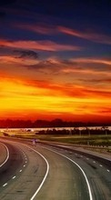 Roads,Landscape,Sunset