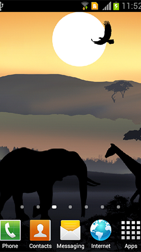 Download Landschaft Live Wallpaper African sunset für Android kostenlos.