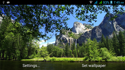 Kostenlos Live Wallpaper Amazing nature für Android Smartphones und Tablets downloaden.
