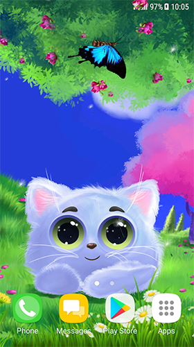 Download Tiere Live Wallpaper Animated cat für Android kostenlos.