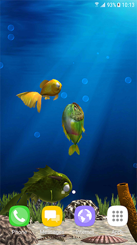 Download 3D Live Wallpaper Aquarium fish 3D by BlackBird Wallpapers für Android kostenlos.