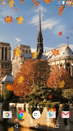 Kostenlos Live Wallpaper Autumn in Paris für Android Smartphones und Tablets downloaden.