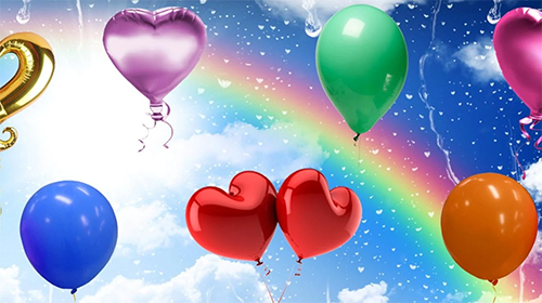 Download Hintergrund Live Wallpaper Balloons by Cosmic Mobile Wallpapers für Android kostenlos.