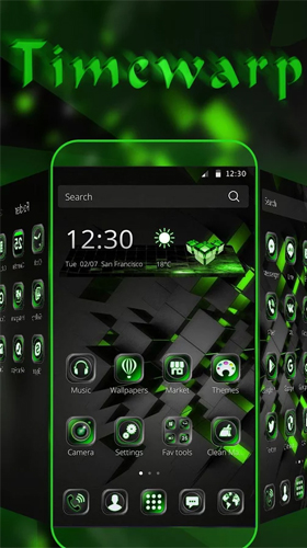 Download Hi-Tech Live Wallpaper Black technology für Android kostenlos.