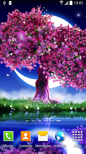 Download Fantasy Live Wallpaper Cherry in blossom für Android kostenlos.
