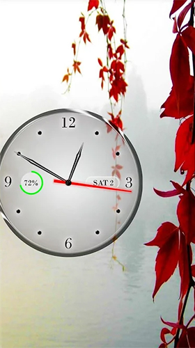 Download Interaktiv Live Wallpaper Clock, calendar, battery für Android kostenlos.