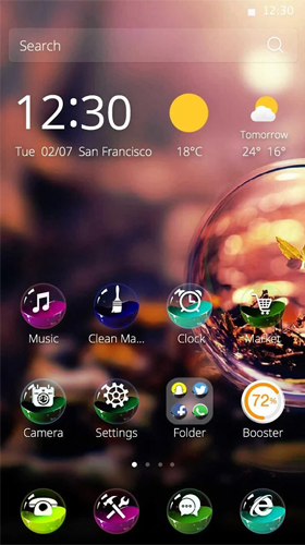 Download Abstrakt Live Wallpaper Colorful ball für Android kostenlos.