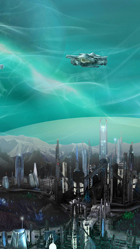 Kostenlos Live Wallpaper Deep Space Colony für Android Smartphones und Tablets downloaden.