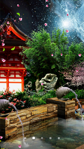 Kostenlos Live Wallpaper Eastern garden by Amax LWPS für Android Smartphones und Tablets downloaden.