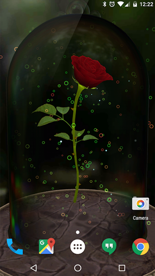 Kostenlos Live Wallpaper Enchanted Rose für Android Smartphones und Tablets downloaden.