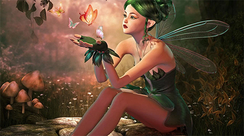 Download Fantasy Live Wallpaper Fairy girl HD für Android kostenlos.