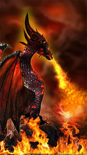 Download Fantasy Live Wallpaper Fire dragon 3D für Android kostenlos.