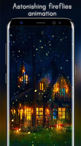 Download Fantasy Live Wallpaper Fireflies by Live Wallpapers HD für Android kostenlos.