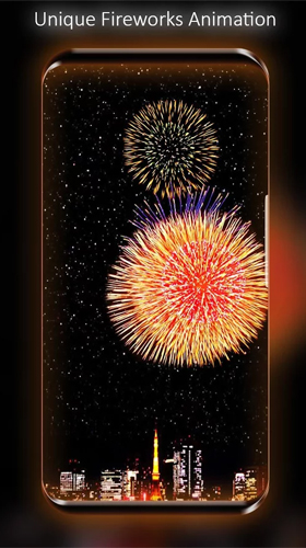 Download Live Wallpaper Fireworks by Live Wallpapers HD für Android-Handy kostenlos.