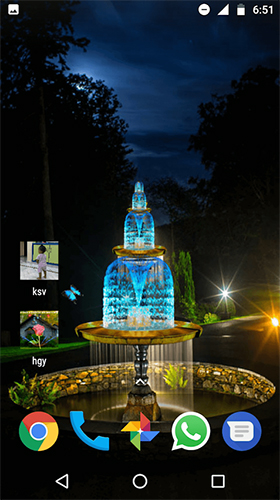 Download 3D Live Wallpaper Fountain 3D für Android kostenlos.