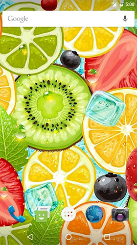 Download Interaktiv Live Wallpaper Fruits by Wasabi für Android kostenlos.