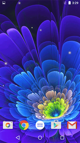Download Blumen Live Wallpaper Glowing flowers by Free Wallpapers and Backgrounds für Android kostenlos.