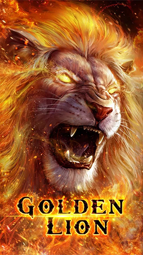 Download Tiere Live Wallpaper Golden lion für Android kostenlos.