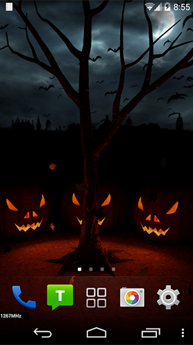 Download Feiertage Live Wallpaper Halloween evening 3D für Android kostenlos.