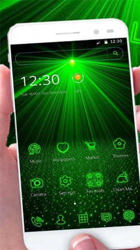 Download Hi-Tech Live Wallpaper Laser green light für Android kostenlos.
