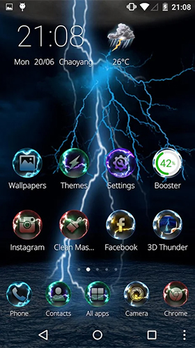 Download Hi-Tech Live Wallpaper Lightning storm 3D für Android kostenlos.