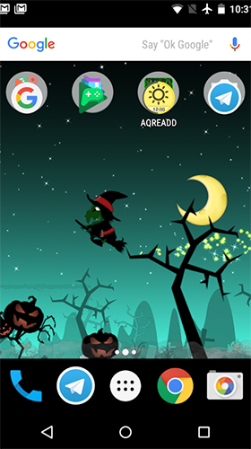 Download Feiertage Live Wallpaper Little witch planet für Android kostenlos.