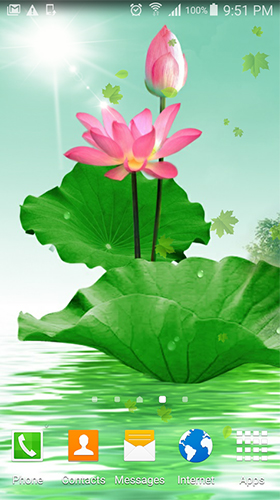 Download Blumen Live Wallpaper Lotus by villeHugh für Android kostenlos.