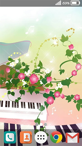 Download Musik Live Wallpaper Melody für Android kostenlos.