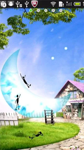 Download Fantasy Live Wallpaper Moon slide für Android kostenlos.