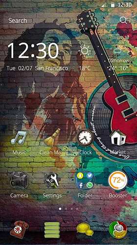 Download Musik Live Wallpaper Music life für Android kostenlos.