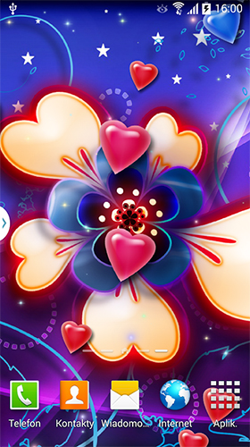 Download Live Wallpaper Neon hearts by Live Wallpapers 3D für Android-Handy kostenlos.