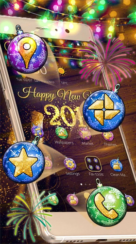 Kostenlos Live Wallpaper New Year 2018 für Android Smartphones und Tablets downloaden.