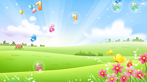 Download Vektor Live Wallpaper Number bubbles for kids für Android kostenlos.