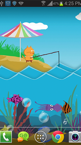 Download Cartoons Live Wallpaper Paper sea by live wallpaper HongKong für Android kostenlos.