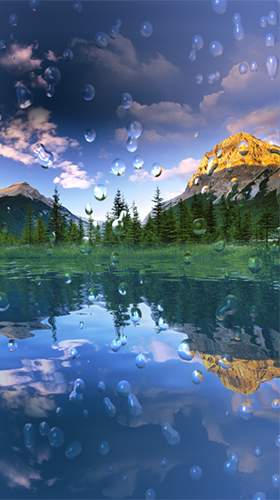 Download Landschaft Live Wallpaper Rain drop by iim mobile für Android kostenlos.