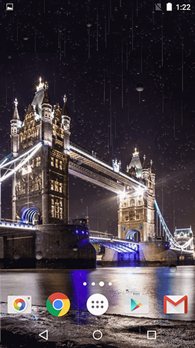 Kostenlos Live Wallpaper Rainy London by Phoenix Live Wallpapers für Android Smartphones und Tablets downloaden.
