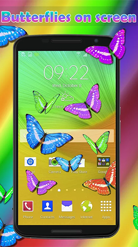 Download Tiere Live Wallpaper Real butterflies für Android kostenlos.