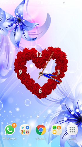 Download Live Wallpaper Rose clock by Mobile Masti Zone für Android-Handy kostenlos.