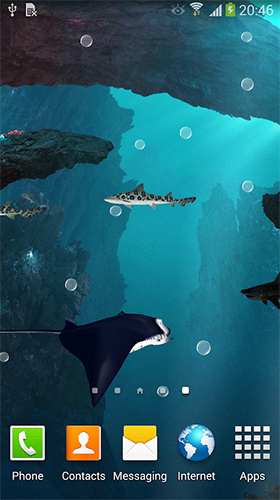 Download Aquarien Live Wallpaper Sharks 3D by BlackBird Wallpapers für Android kostenlos.