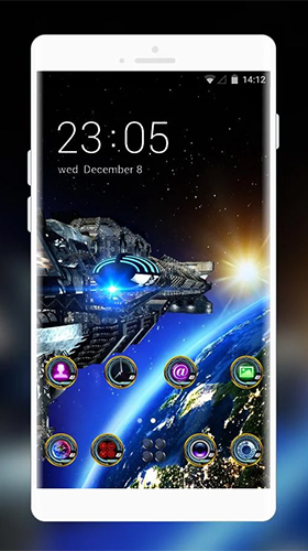 Kostenlos Live Wallpaper Space galaxy 3D by Mobo Theme Apps Team für Android Smartphones und Tablets downloaden.