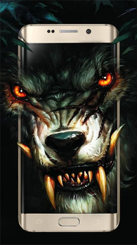 Kostenlos Live Wallpaper Spiky bloody king wolf für Android Smartphones und Tablets downloaden.