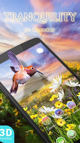 Download Tiere Live Wallpaper Tranquility 3D für Android kostenlos.