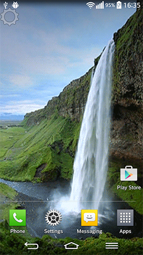 Download Landschaft Live Wallpaper Waterfall sounds für Android kostenlos.