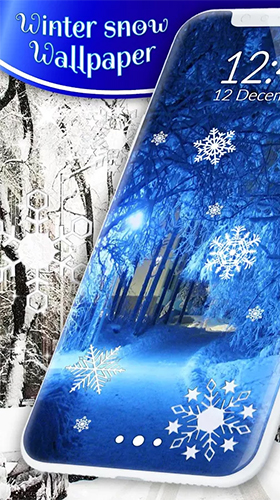 Download Landschaft Live Wallpaper Winter snow by 3D HD Moving Live Wallpapers Magic Touch Clocks für Android kostenlos.