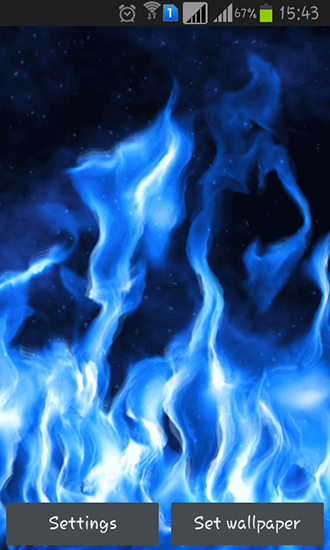 Download Live Wallpaper Blue flame für Android 4.0.4 kostenlos.