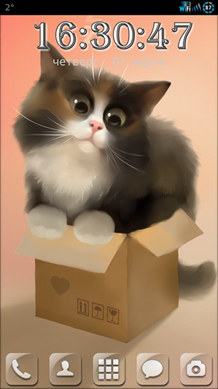 Download Tiere Live Wallpaper Cat in the box für Android kostenlos.